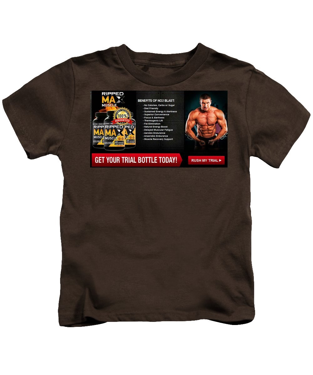 Ripped Max Muscle Kids T-Shirt featuring the photograph Ripped Max Muscle by Ripped Max Muscle
