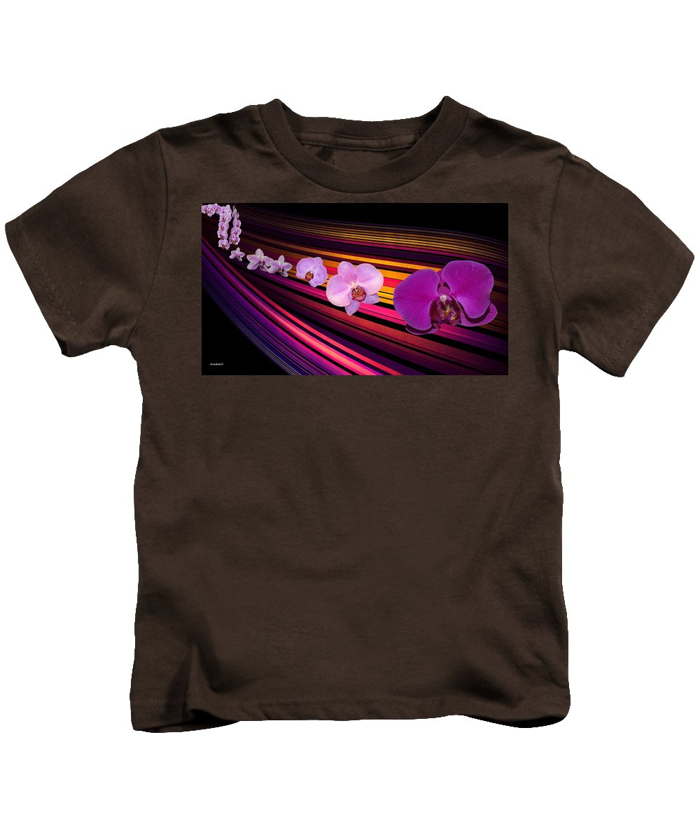 Orchid Kids T-Shirt featuring the photograph River Of Orchids by Gary Crockett