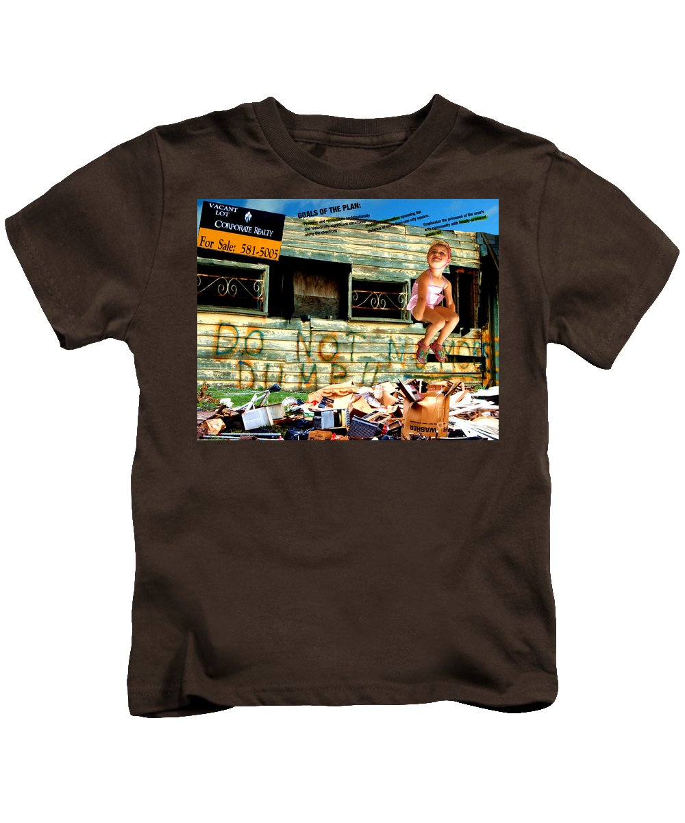 Riverfront Development Kids T-Shirt featuring the photograph Riverfront Visions by Ze DaLuz