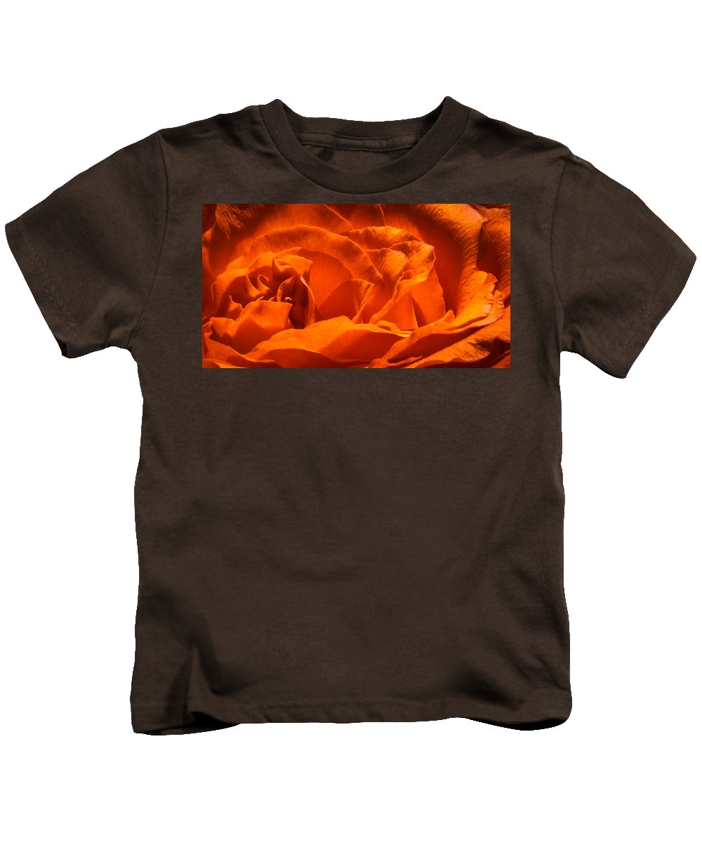 Orange Kids T-Shirt featuring the photograph Rose by Heather Hubbard