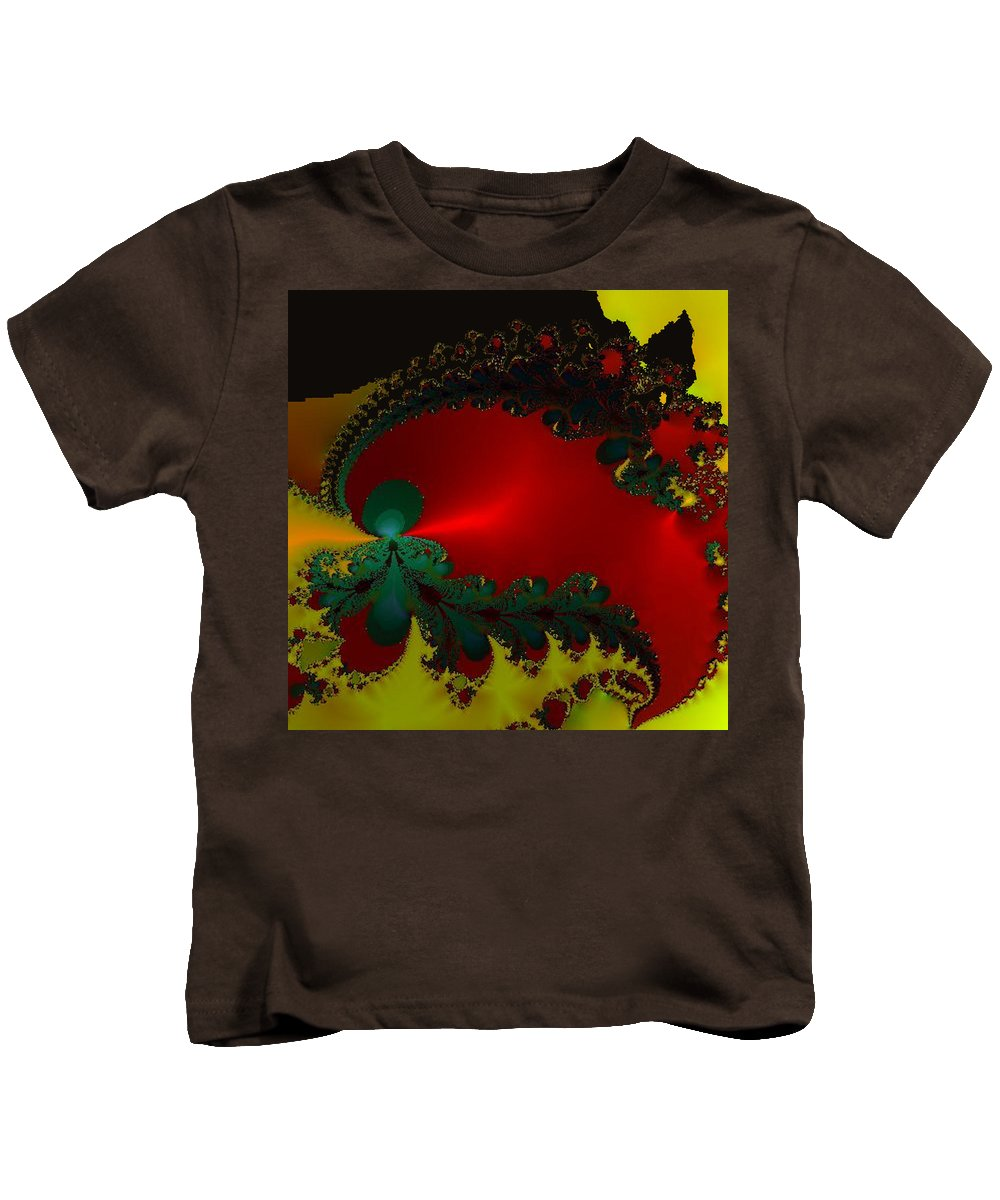 Metallic Kids T-Shirt featuring the mixed media Royal Red by Kevin Caudill