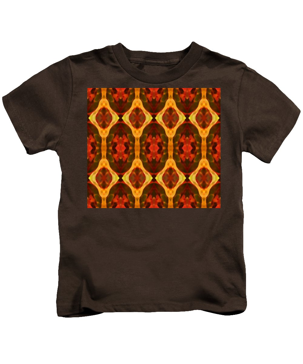 Abstract Kids T-Shirt featuring the painting Ruby Glow Pattern by Amy Vangsgard