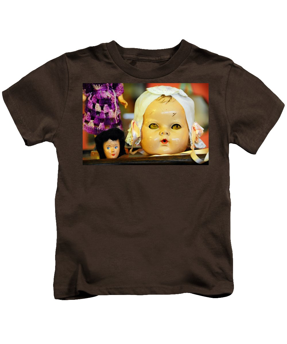 Antique Kids T-Shirt featuring the photograph Rumormongers by Skip Hunt