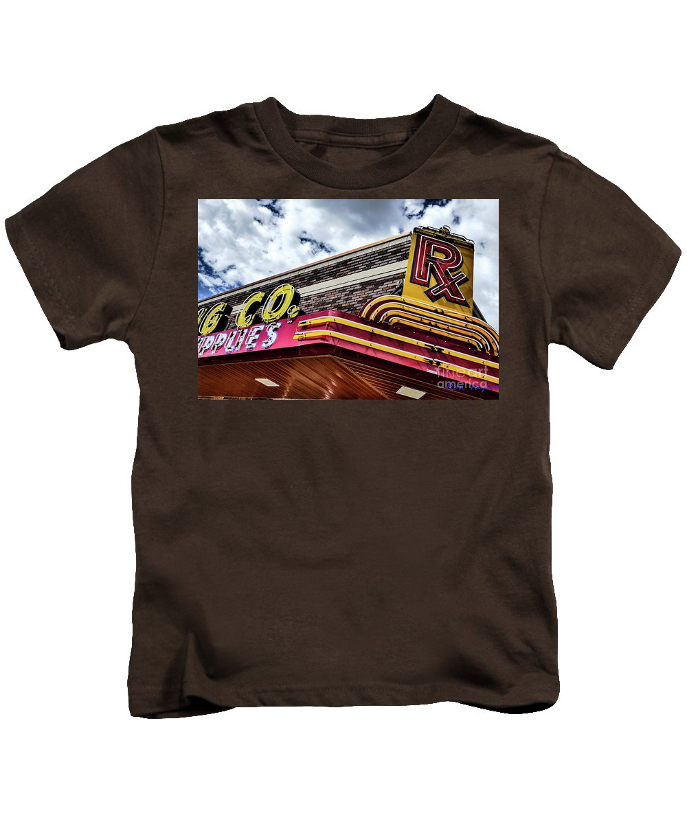 Rx Great Falls Kids T-Shirt featuring the photograph Rx Great Falls, Mt by Ron Taylor