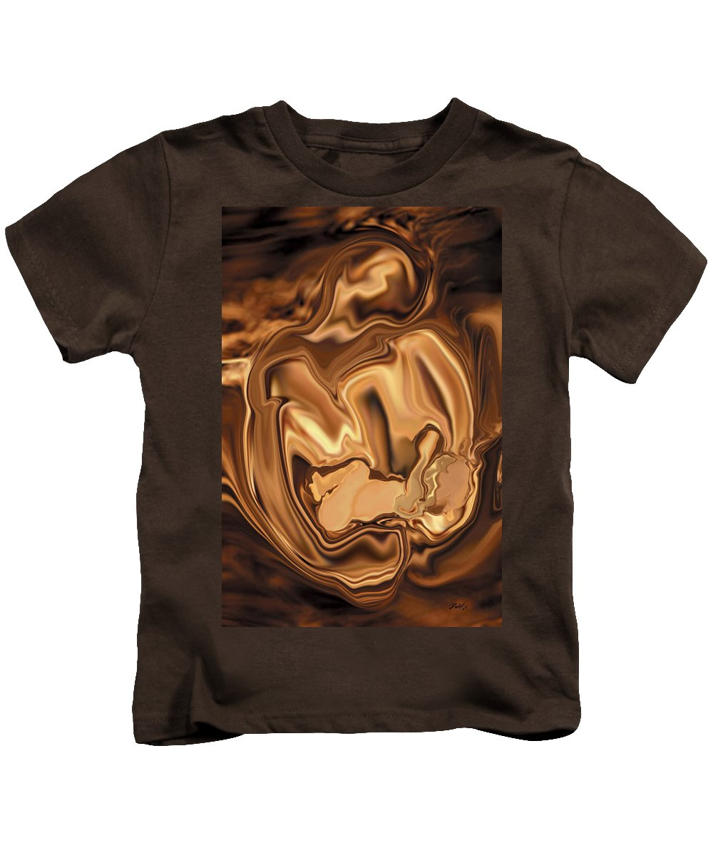 Abstract Kids T-Shirt featuring the digital art Safe-in-her-arms by Rabi Khan
