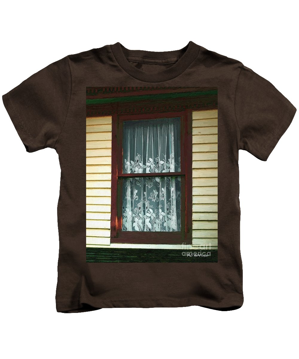 Autumn Kids T-Shirt featuring the painting Second Story Sunset by RC DeWinter