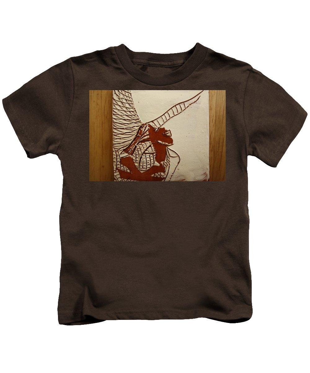 Jesus Kids T-Shirt featuring the ceramic art Selina - Tile by Gloria Ssali