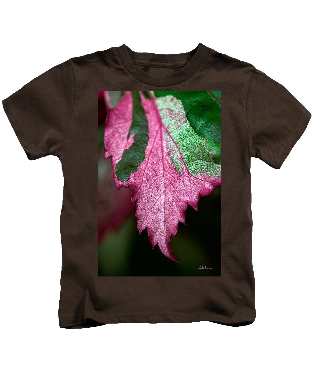 Flora Kids T-Shirt featuring the photograph Serrated by Christopher Holmes