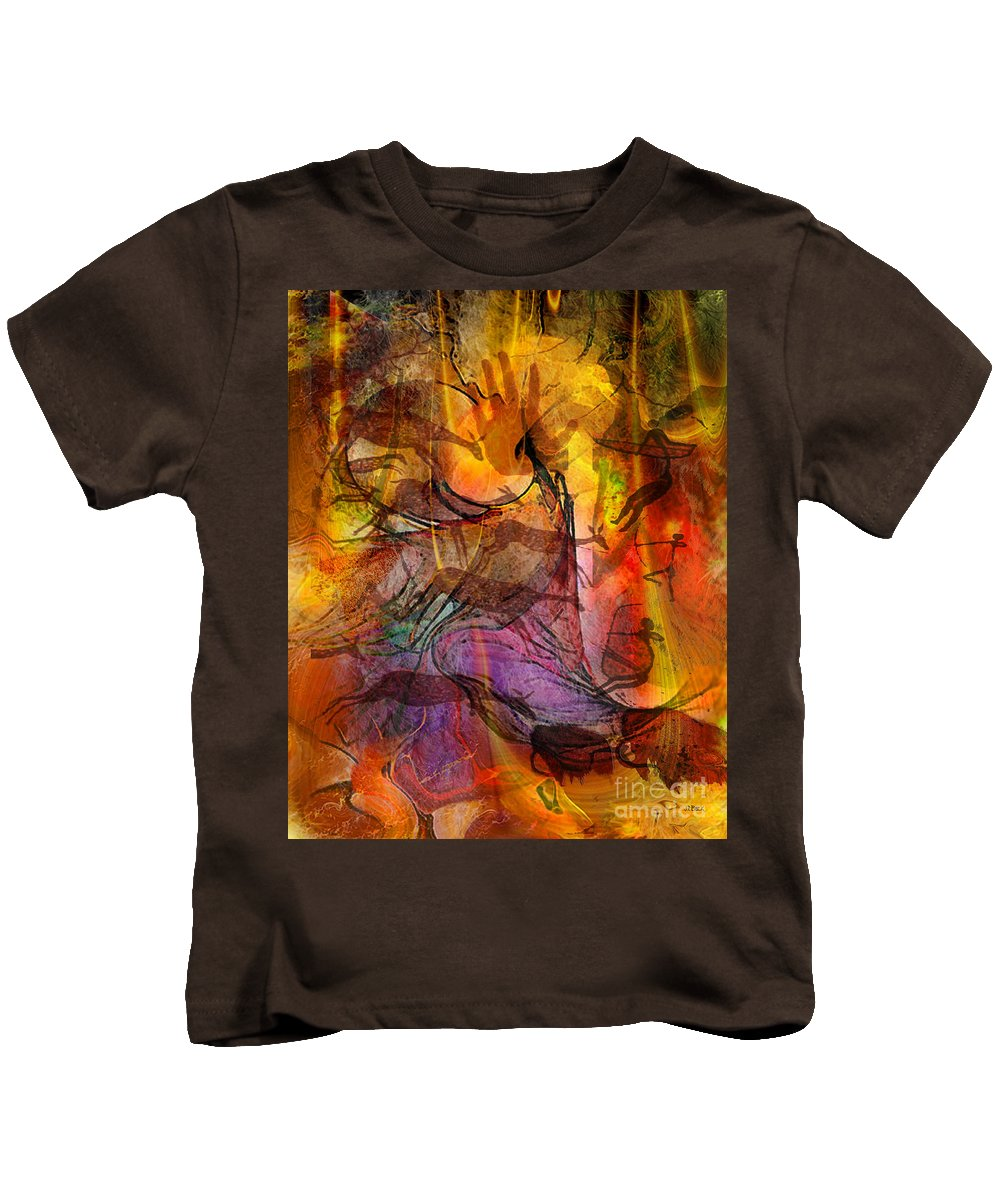 Shadow Hunters Kids T-Shirt featuring the digital art Shadow Hunters by John Beck