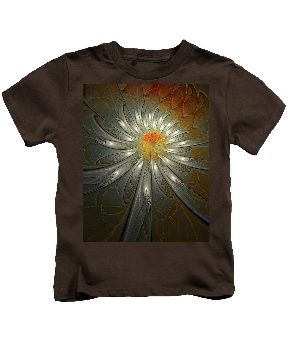 Digital Art Kids T-Shirt featuring the digital art Shimmer by Amanda Moore