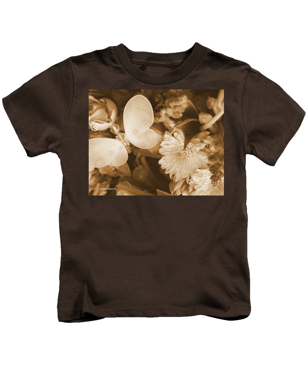Photography Enhanced Kids T-Shirt featuring the photograph Silent Transformation Of Existence by Shelley Jones