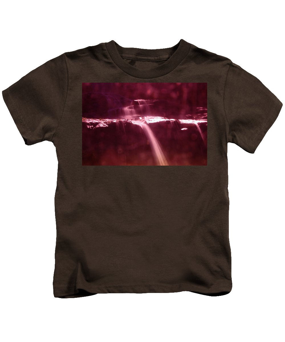 Waterfalls Kids T-Shirt featuring the photograph Silk Off The Rocks by Jeff Swan