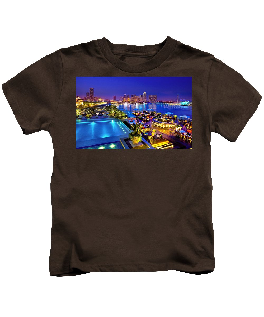 Singapore Kids T-Shirt featuring the digital art Singapore by Dorothy Binder