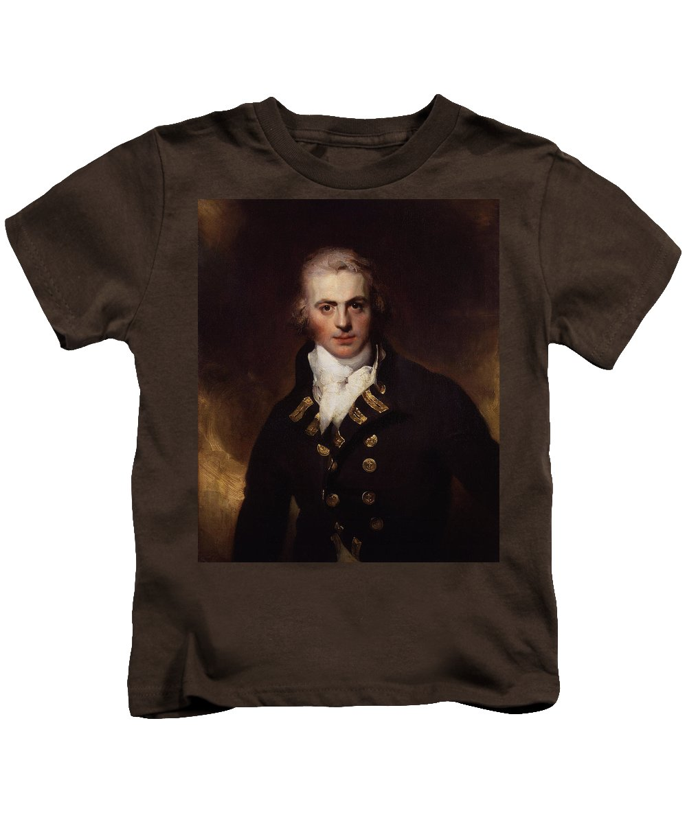 Sir Graham Moore By Sir Thomas Lawrence Kids T-Shirt featuring the painting Sir Graham Moore by MotionAge Designs