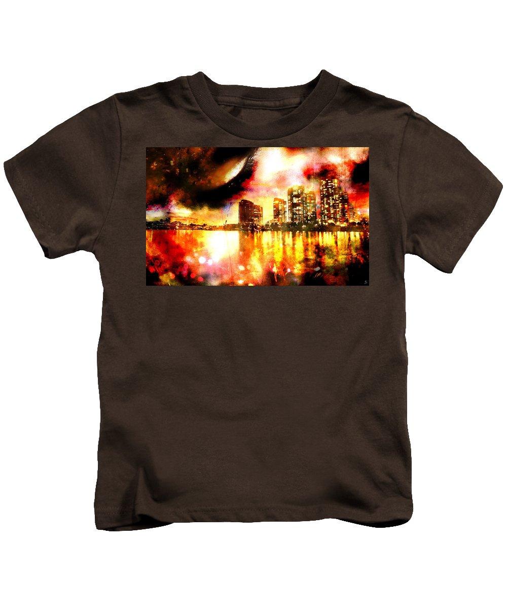 City Kids T-Shirt featuring the photograph Sleeper by Ken Walker