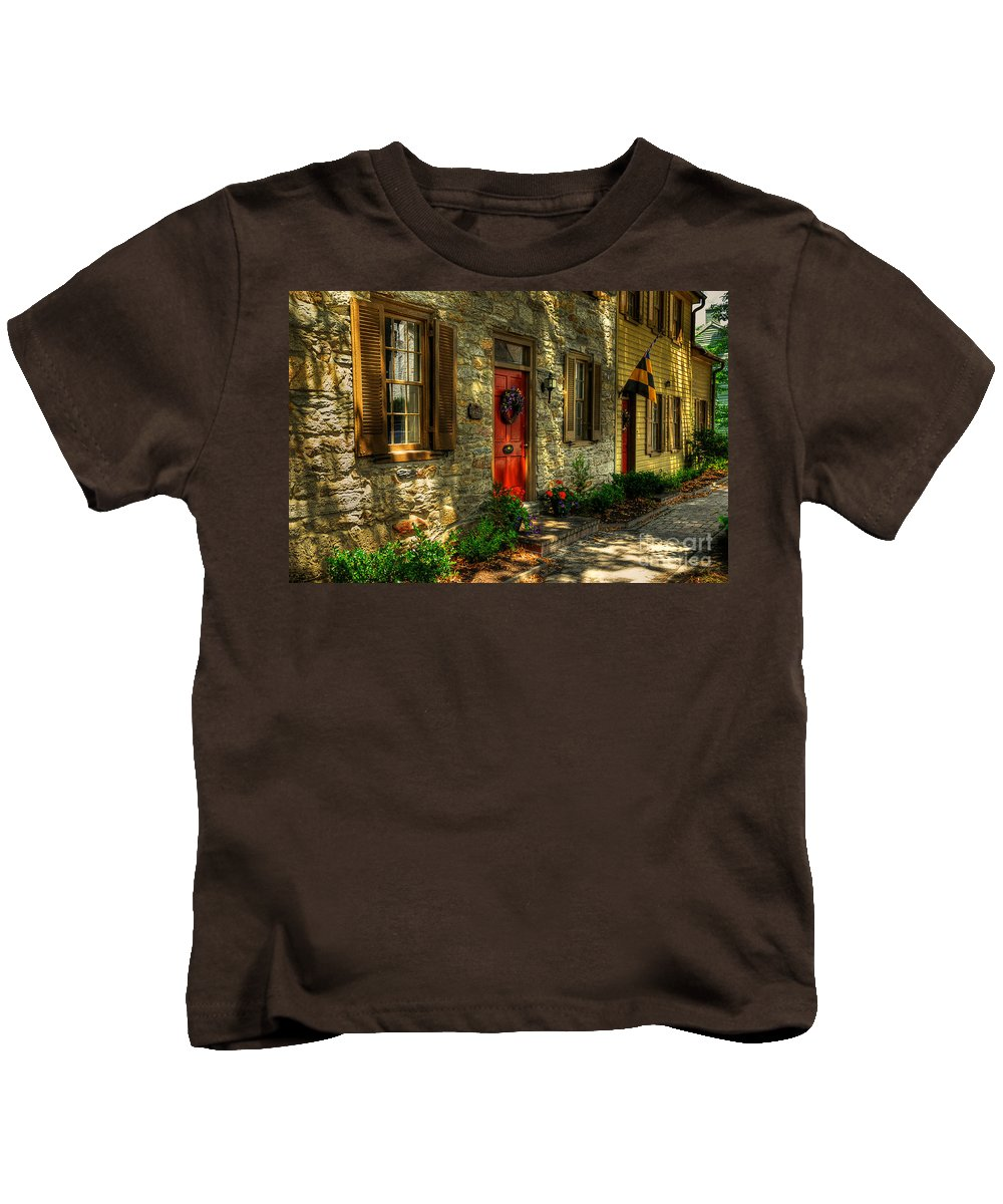 Small Town Kids T-Shirt featuring the photograph Small Town Usa by Lois Bryan