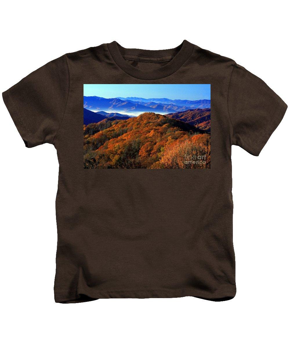 Nature Kids T-Shirt featuring the photograph Smokey Mountain Sunrise by Randy Matthews