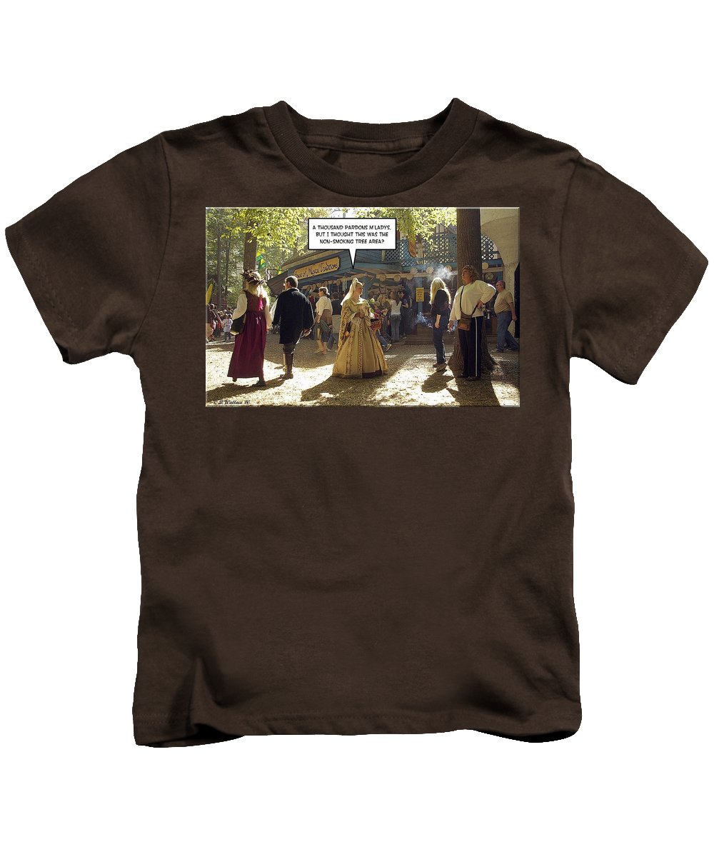 2d Kids T-Shirt featuring the photograph Smoking Or Non by Brian Wallace