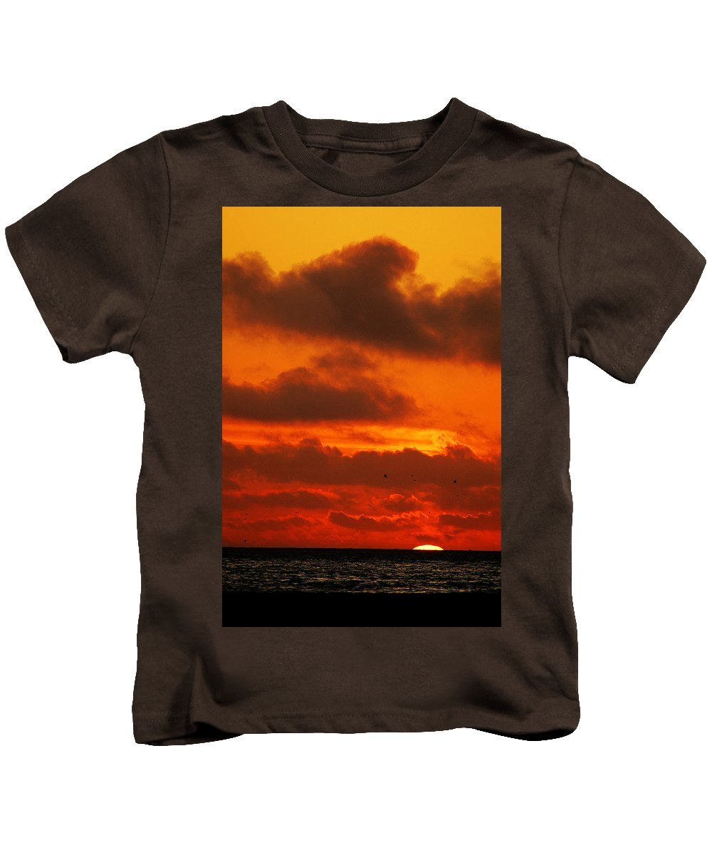 Clay Kids T-Shirt featuring the photograph Socal Sunset by Clayton Bruster
