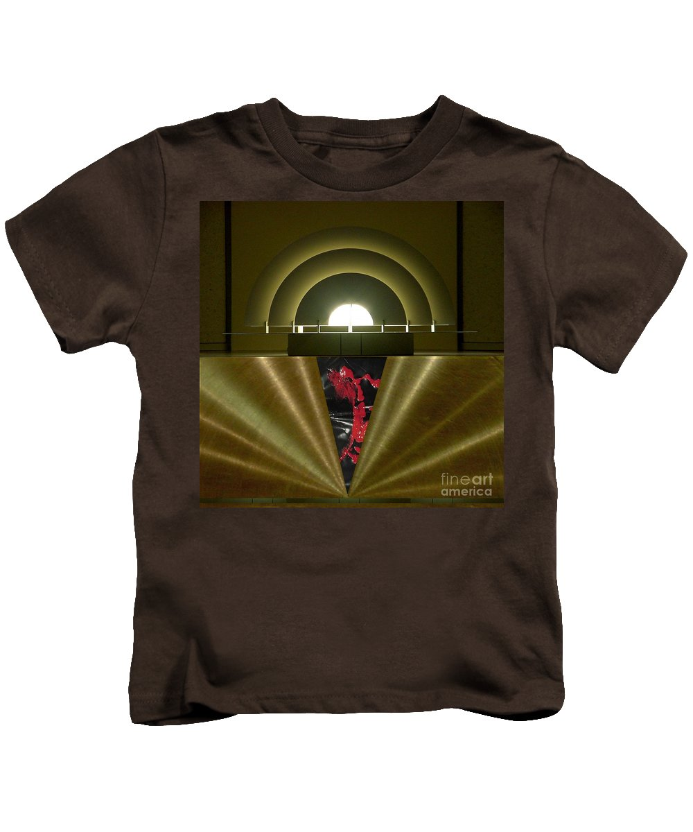 Digital Kids T-Shirt featuring the digital art Soft Light Hard Surface by Ron Bissett