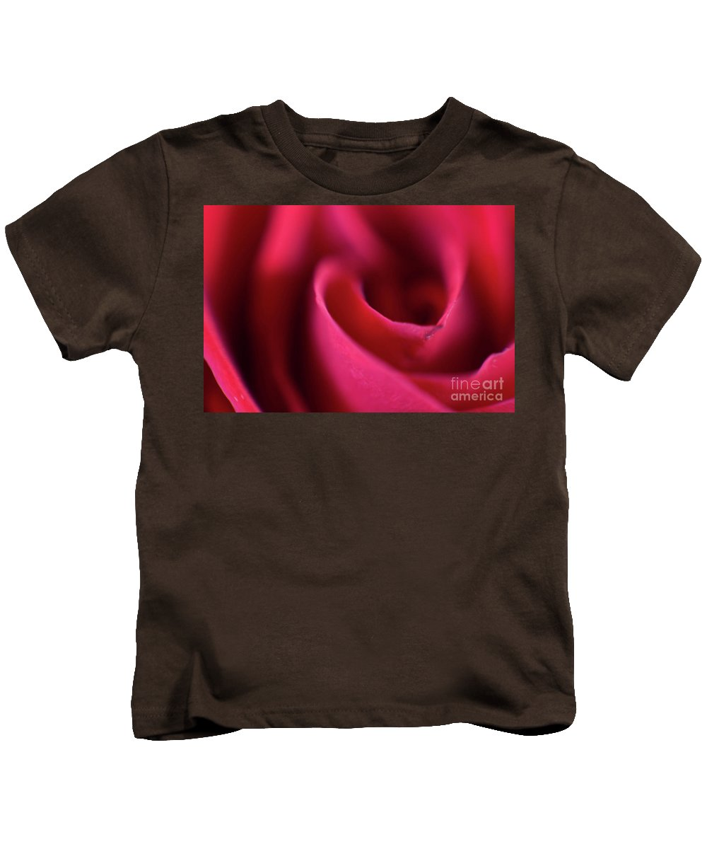 Abstract Kids T-Shirt featuring the photograph Soft Petals by Alan Look