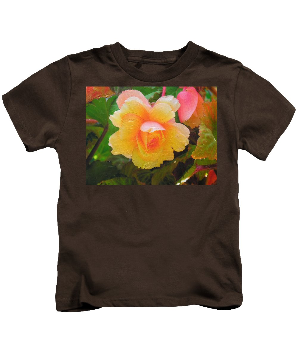 Kids T-Shirt featuring the mixed media Softness by Diane Greco-Lesser