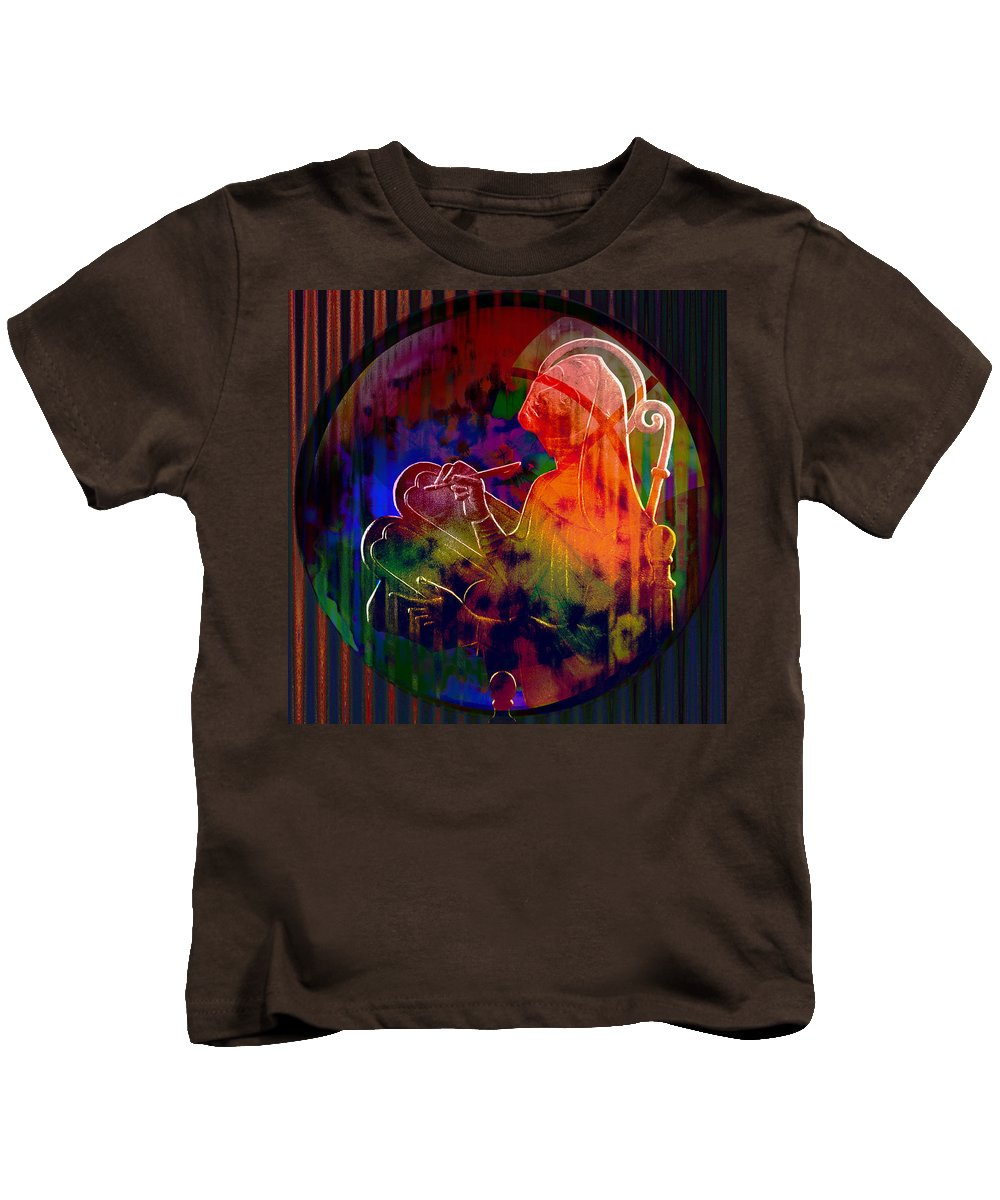 Earth Kids T-Shirt featuring the digital art Solar Earth Scribe by Joseph Mosley
