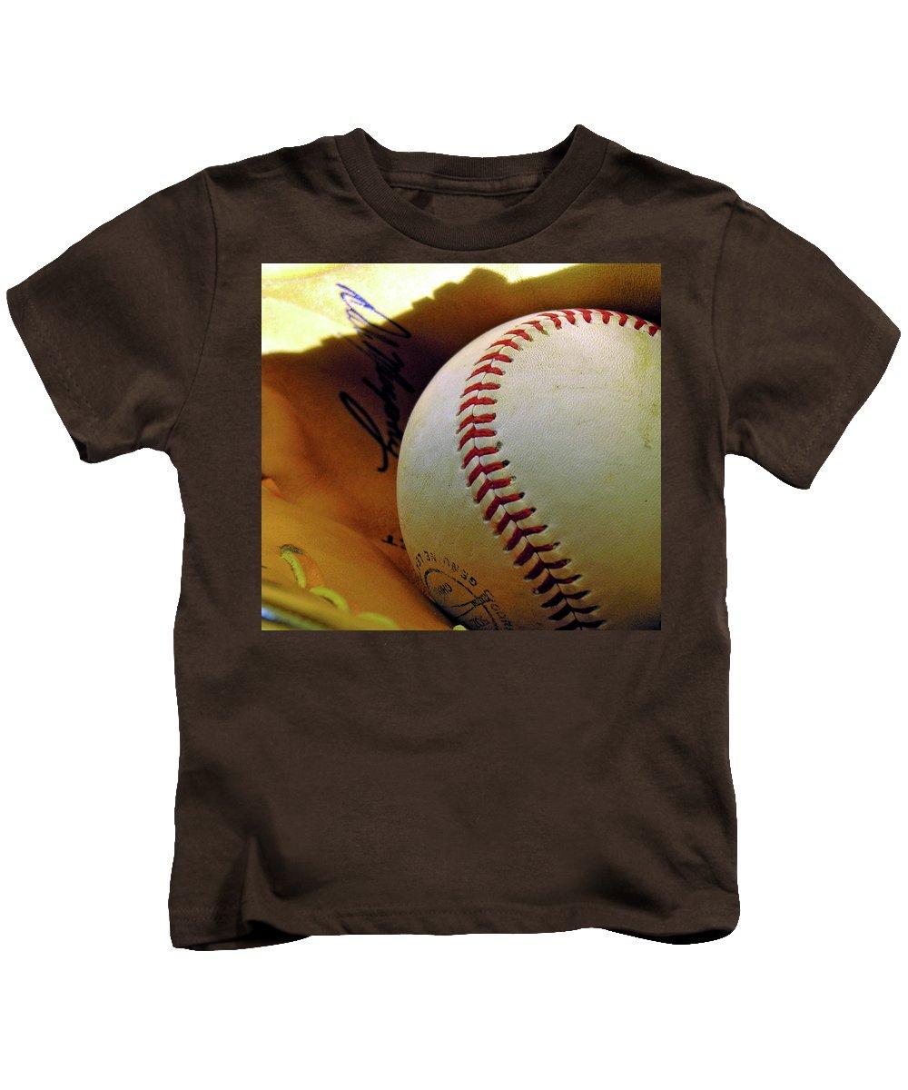 Baseball Kids T-Shirt featuring the photograph Solitary Ball 2 by Adam Vance