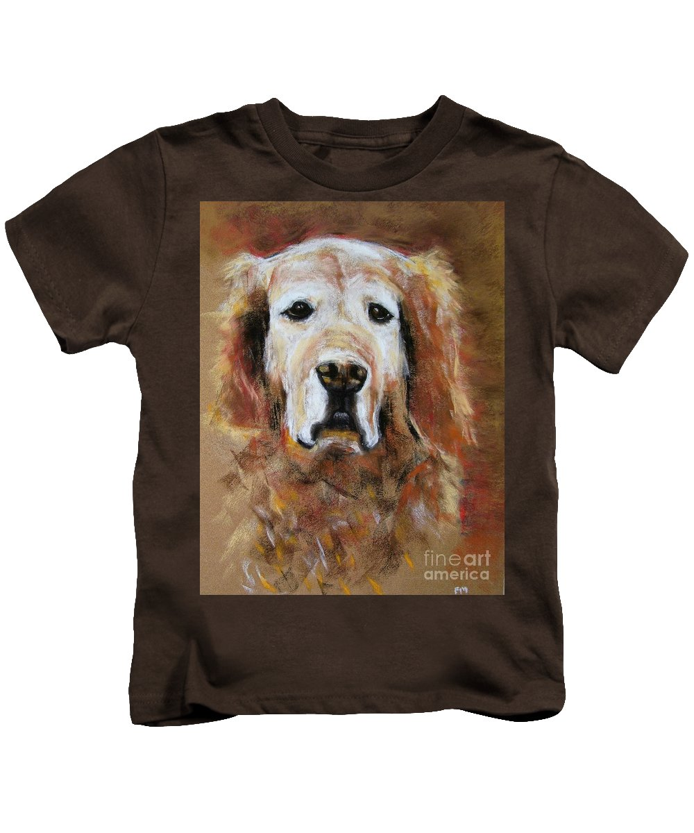 Golden Kids T-Shirt featuring the painting Sonny by Frances Marino