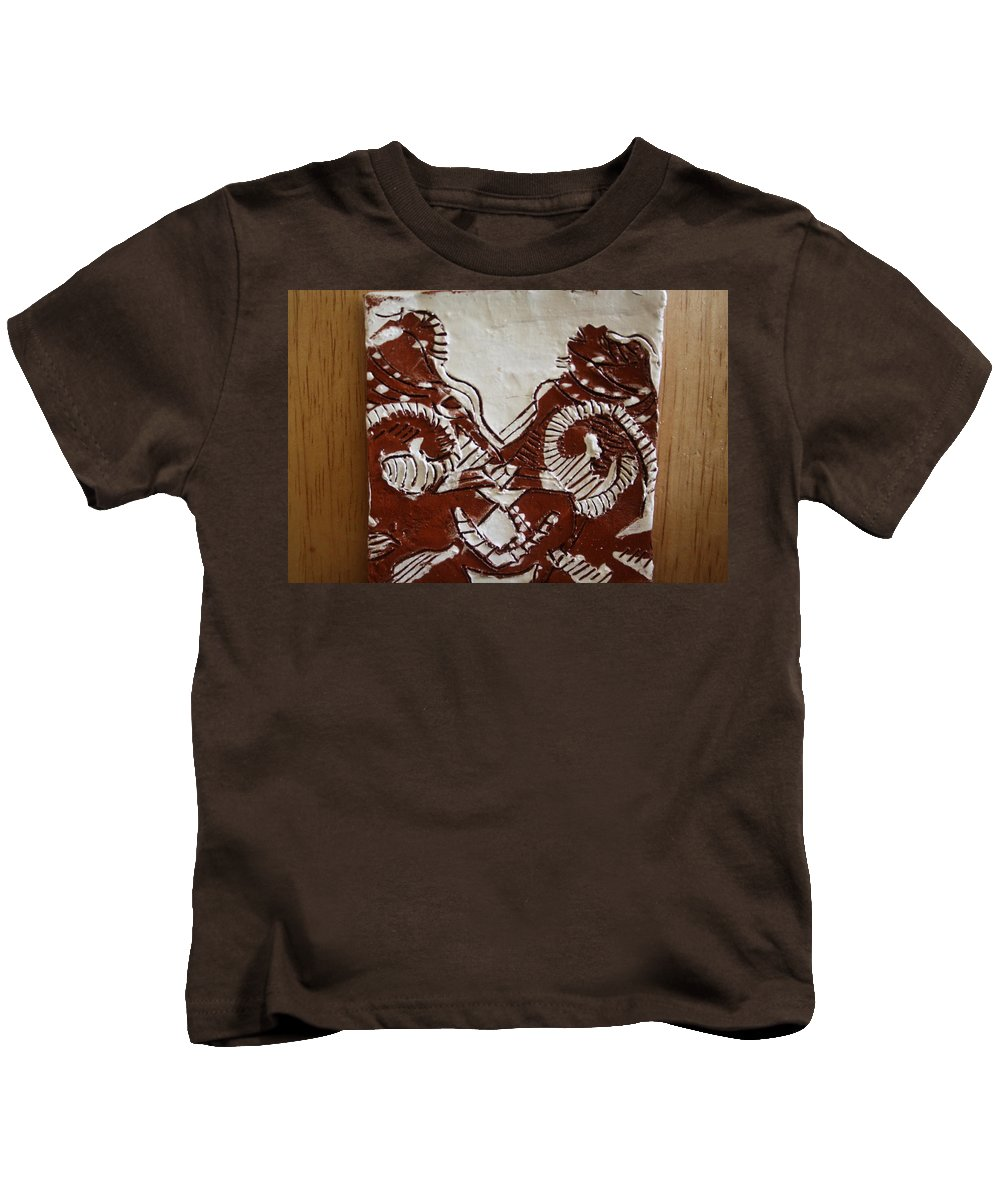 Jesus Kids T-Shirt featuring the ceramic art Sources - Tile by Gloria Ssali