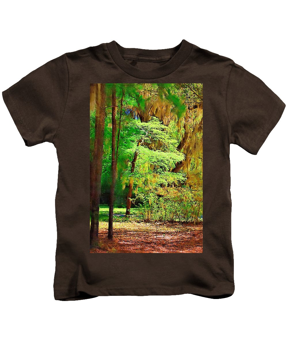 Woods Kids T-Shirt featuring the photograph Southern Forest by Donna Bentley