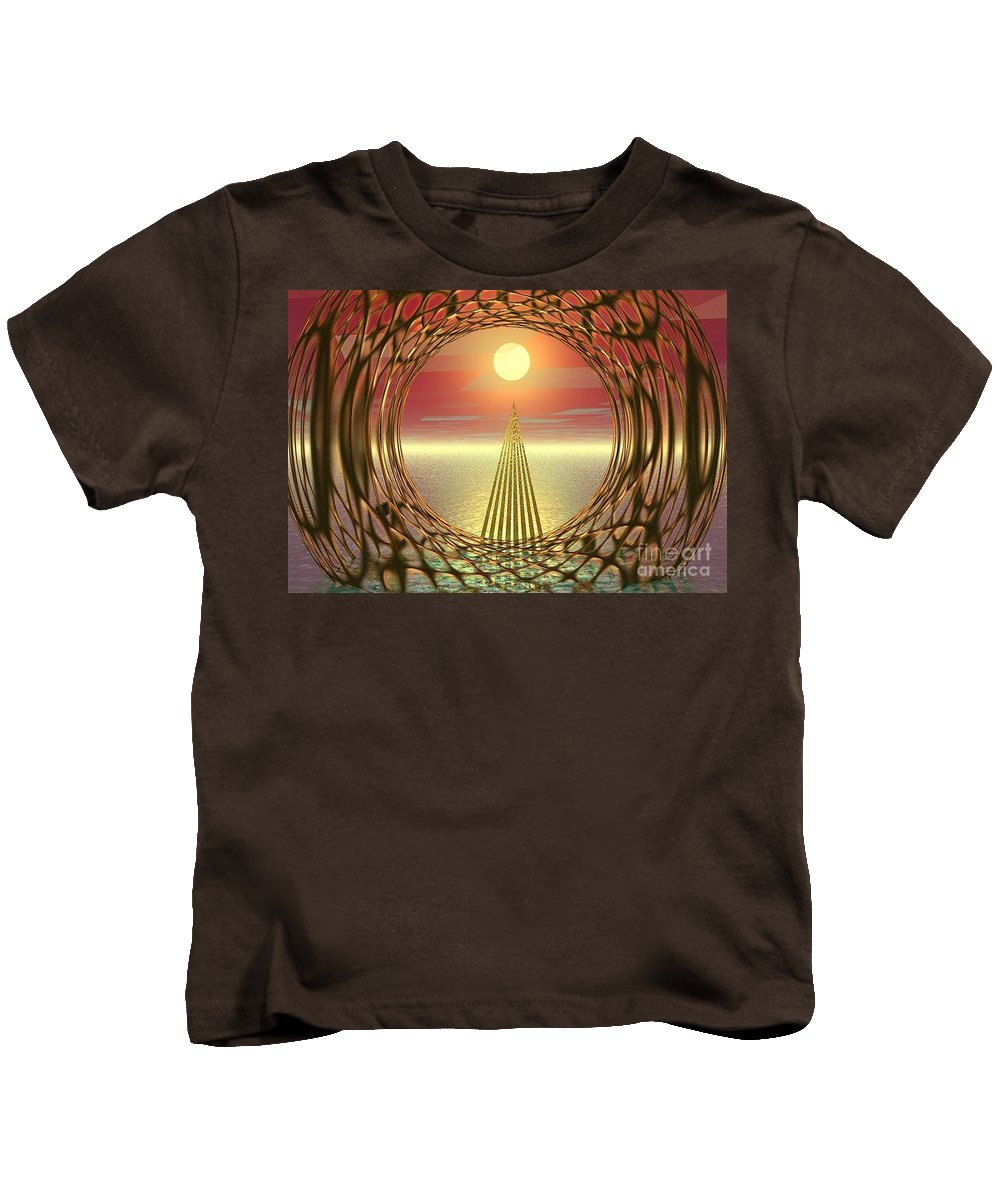 Abstract Kids T-Shirt featuring the digital art Sparkles Of Light by Oscar Basurto Carbonell