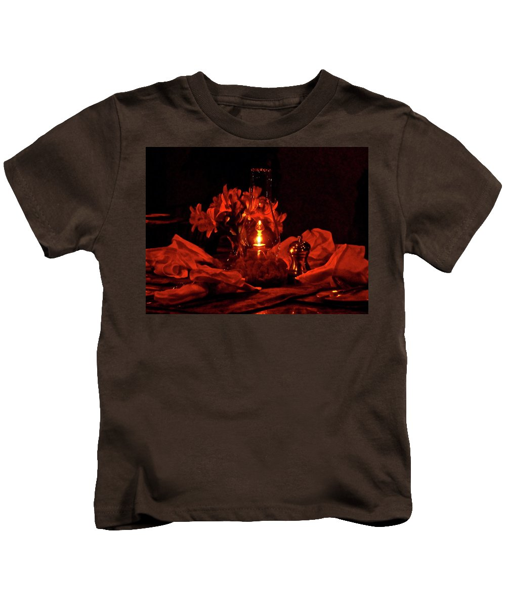 Candle Kids T-Shirt featuring the photograph Special Occasion by Diana Hatcher