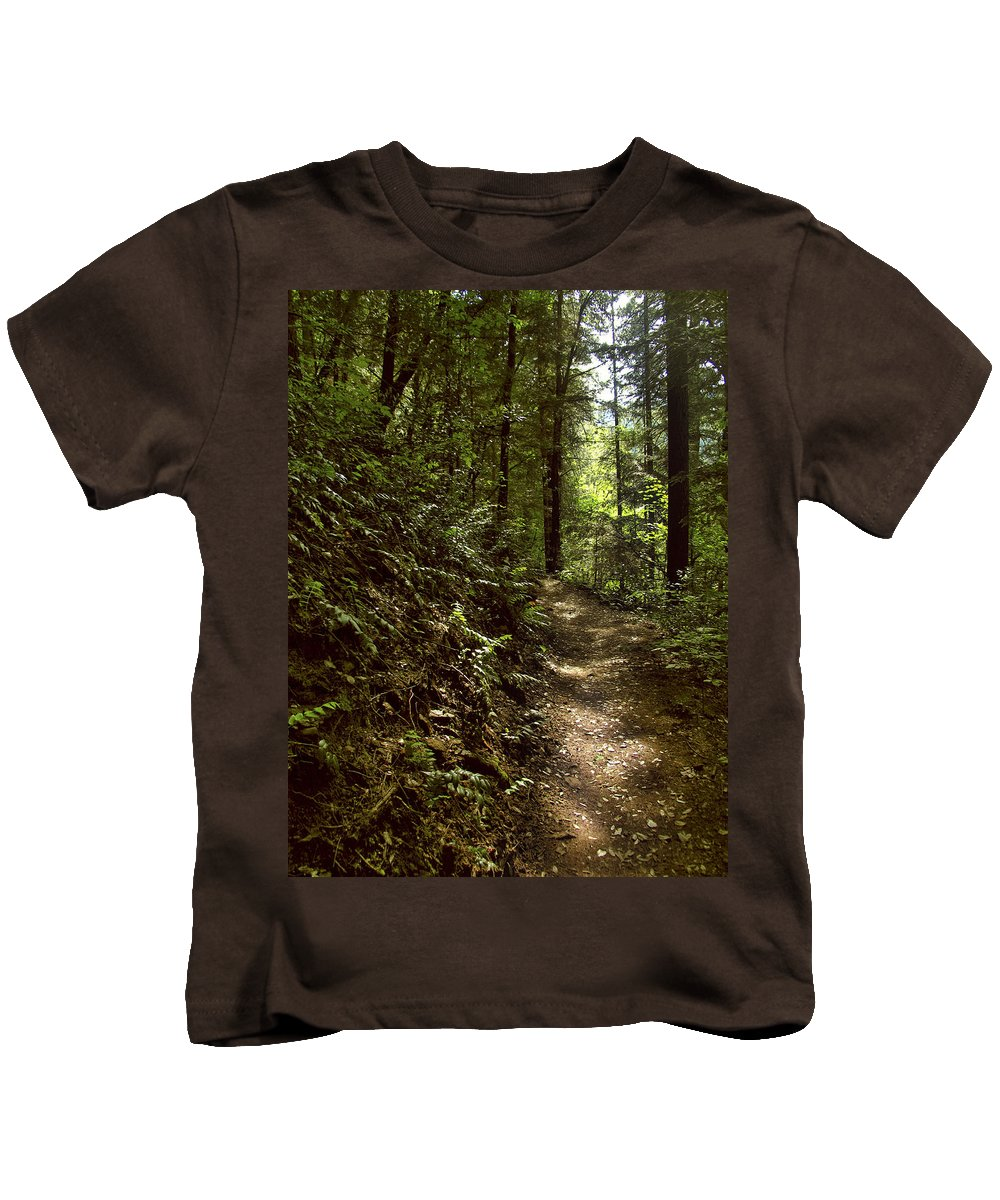 Landscape Kids T-Shirt featuring the photograph Spirit Of The Wood by Karen W Meyer