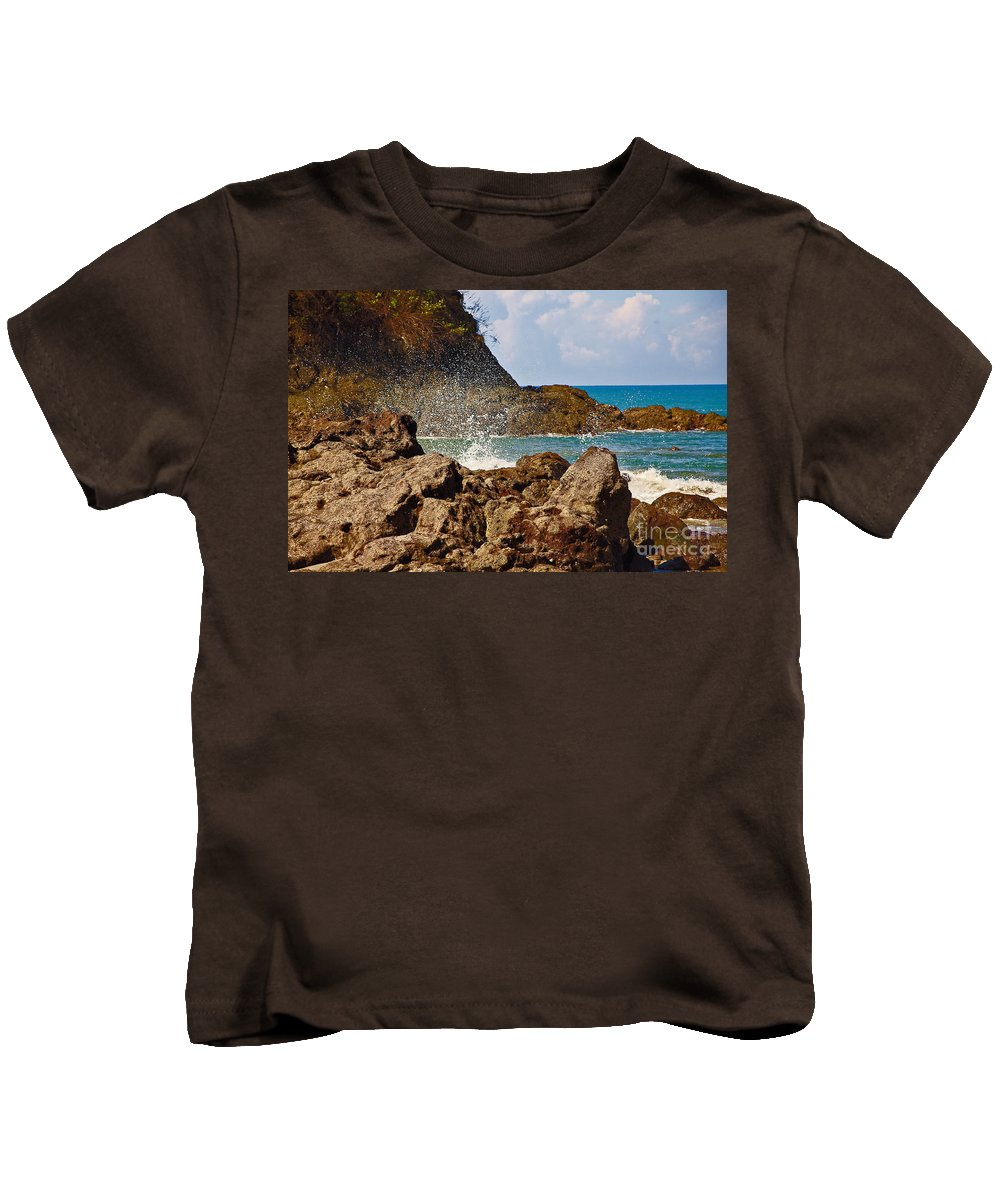 Sea Kids T-Shirt featuring the photograph Splash by Madeline Ellis