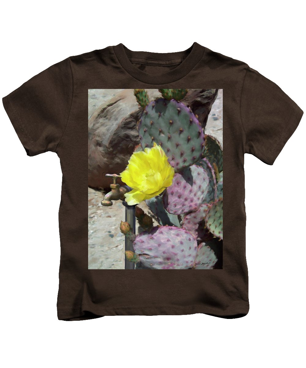 Cactus Kids T-Shirt featuring the digital art Spring Bloom by Snake Jagger