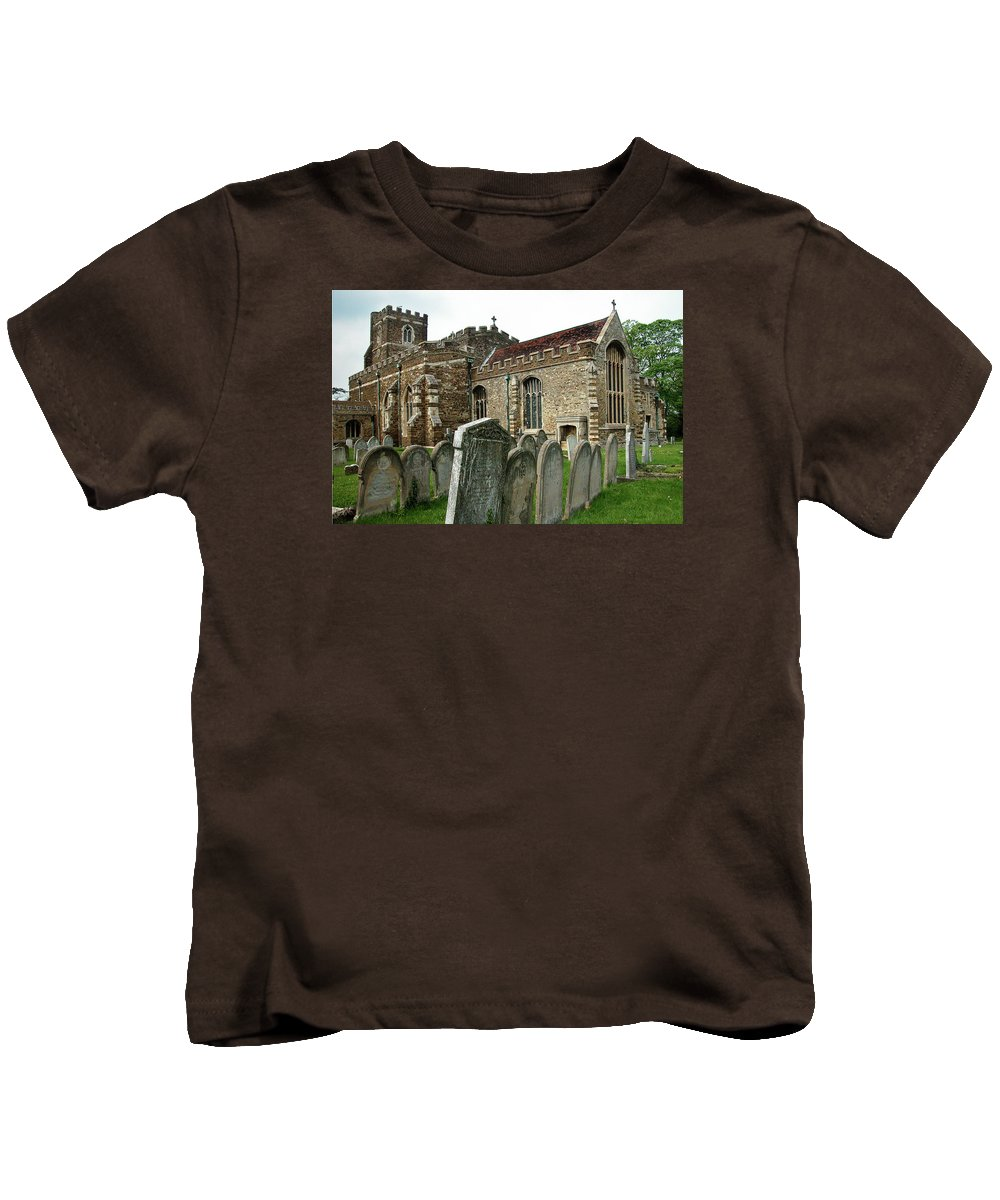 England Kids T-Shirt featuring the photograph Church Of All Saints, Houghton Conquest, Uk by Alan Toepfer