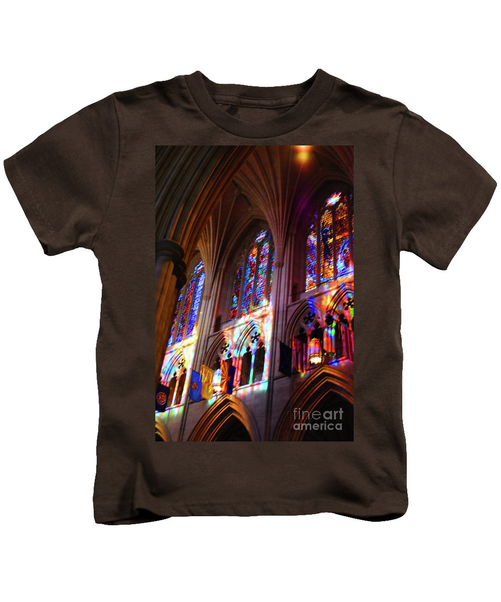 Washington Kids T-Shirt featuring the photograph Stain Glass Cathedral by Jost Houk