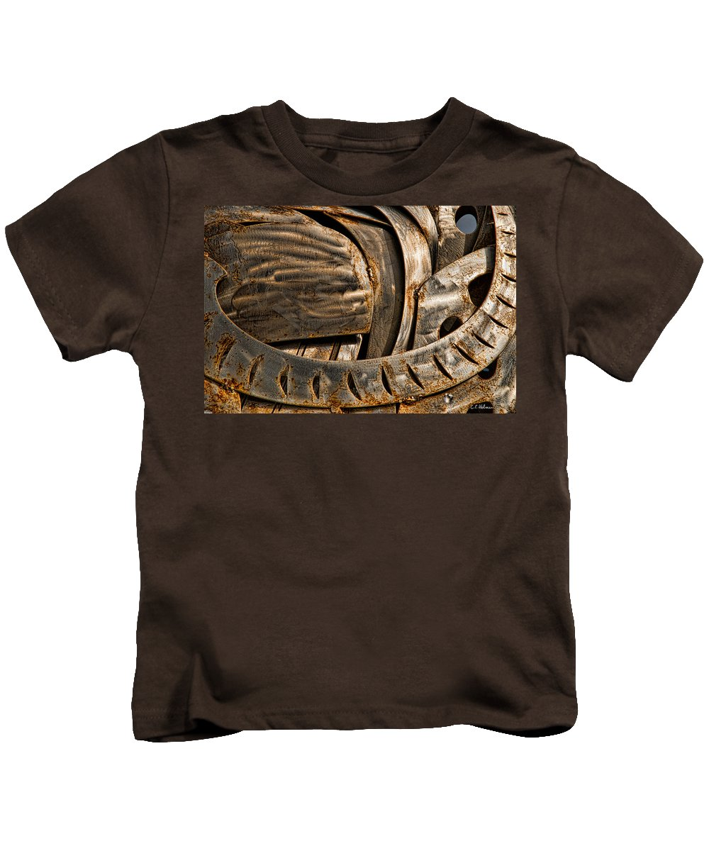 Stainless Kids T-Shirt featuring the photograph Stainless Abstract IIi by Christopher Holmes