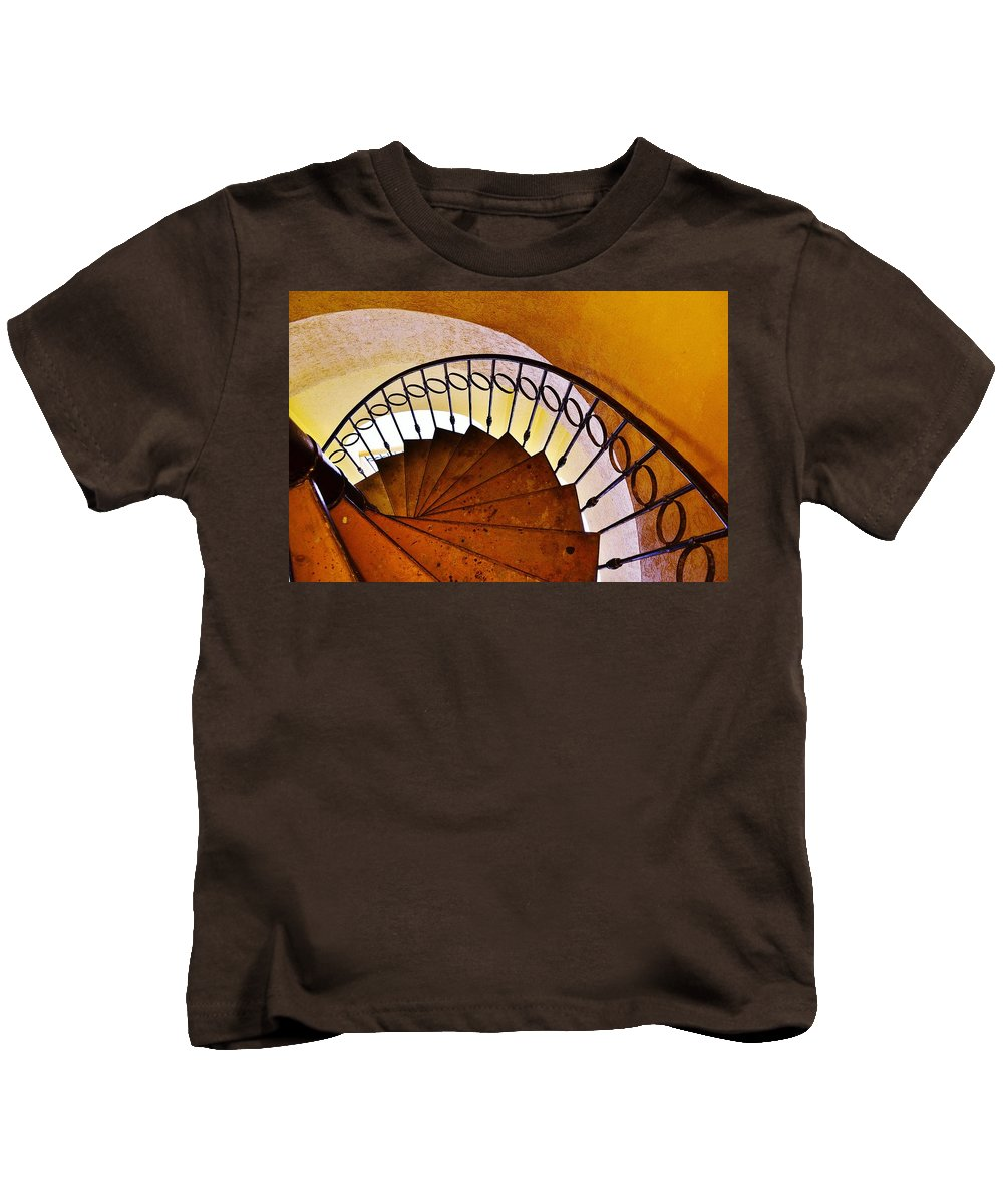 Stairs Kids T-Shirt featuring the photograph Stairway In Cabo by Joy Bradley