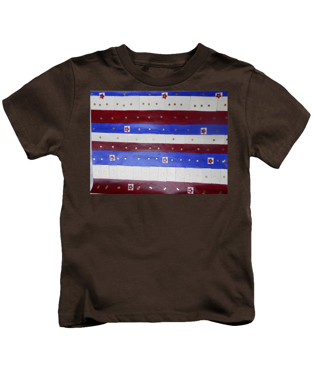 Stars Kids T-Shirt featuring the photograph Star Spangled Banner by Nancy Graham