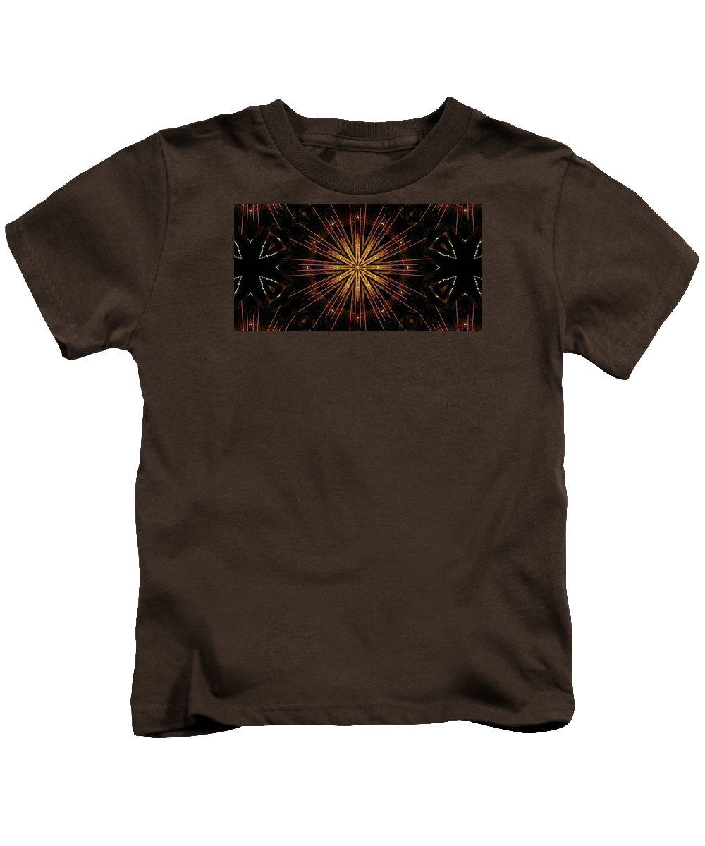Kaleidoscope Kids T-Shirt featuring the photograph Starburst Sand Painting by M E Cieplinski