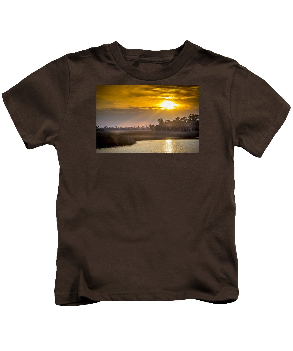 Tranquil Kids T-Shirt featuring the photograph Steamy Hammock by Marvin Spates