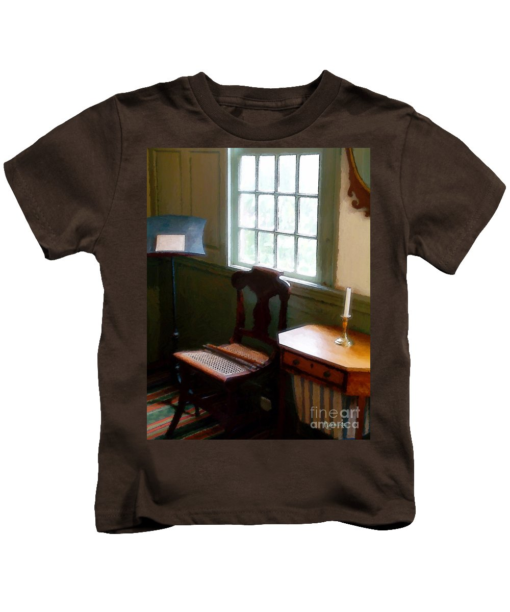 Still Life Kids T-Shirt featuring the painting Still Life, Stevens House by RC DeWinter