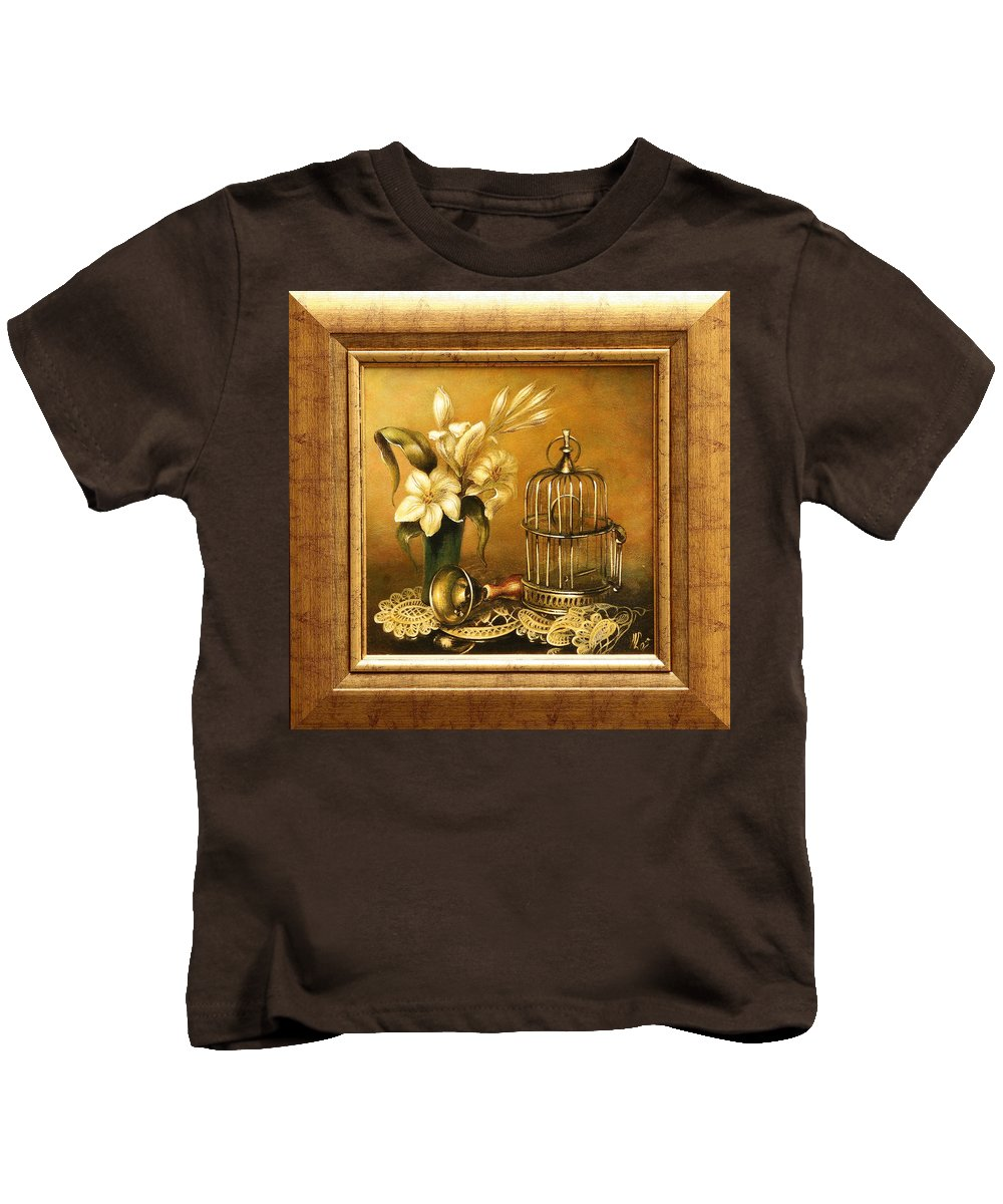 Still Life Kids T-Shirt featuring the painting Still Life by Vali Irina Ciobanu