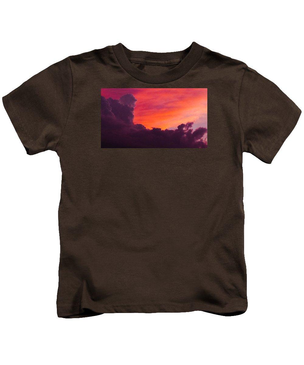 Storm Kids T-Shirt featuring the photograph Storm Clouds 2 by Jennifer Kohler