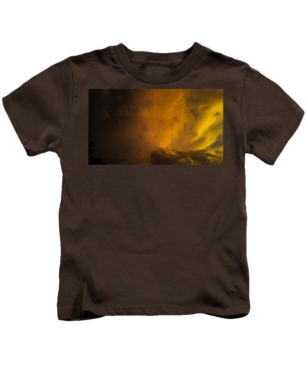 Storm Clouds Kids T-Shirt featuring the photograph Storm Clouds 4a by Jennifer Kohler