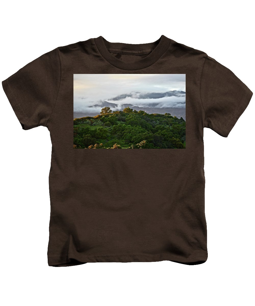 Mountains Kids T-Shirt featuring the photograph Storm Coming by Diana Hatcher