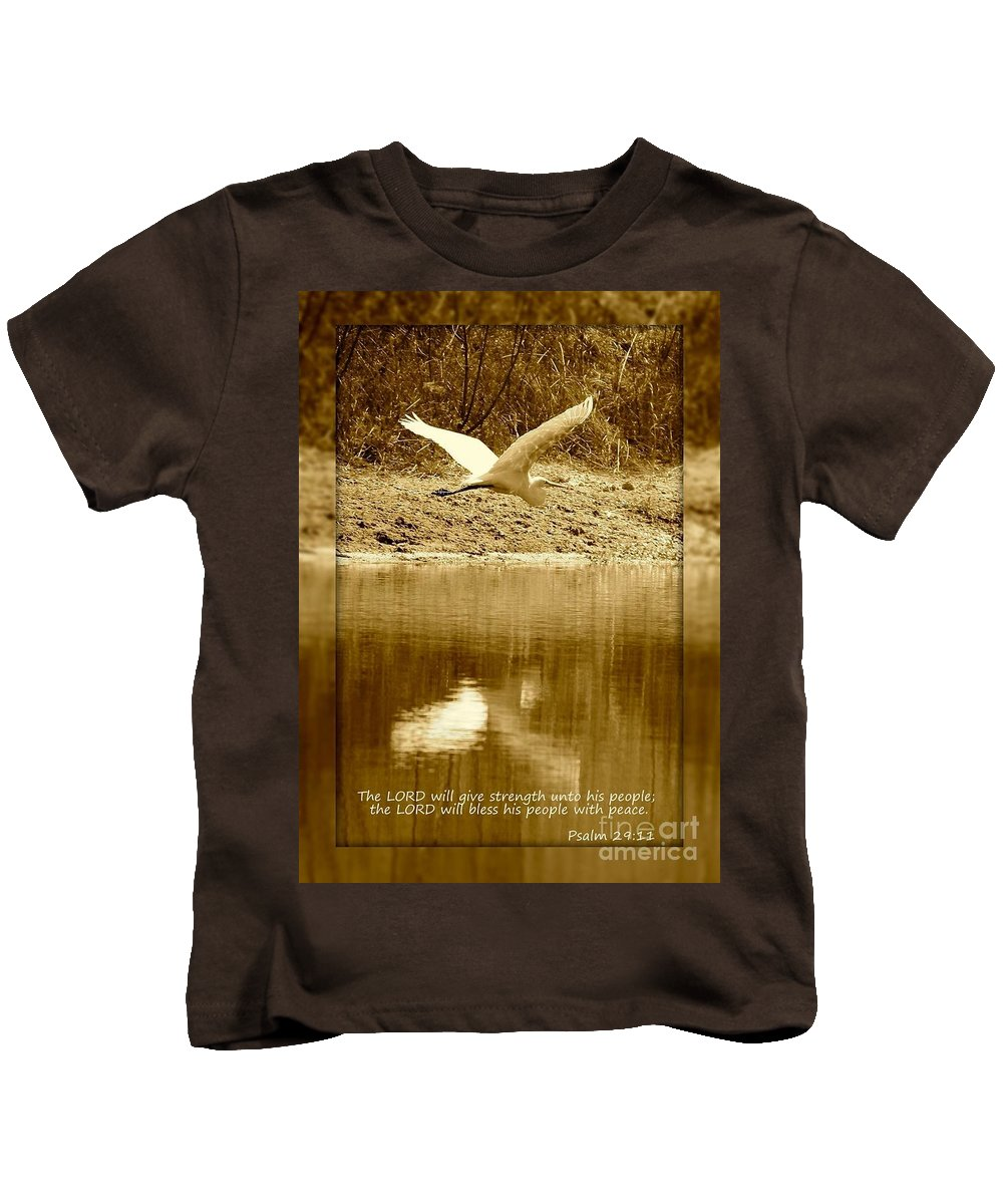 Psalm 29:11 Kids T-Shirt featuring the photograph Strength And Peace by Carol Groenen