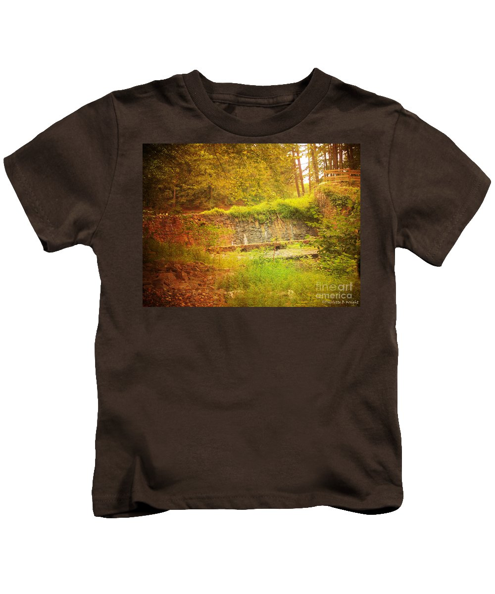 Rock Kids T-Shirt featuring the photograph Stumbled Upon by Paulette B Wright